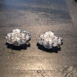 Nolan Miller vintage crystal clip ons